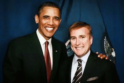 "Amabassador James ""Wally"" Brewster with President Obama"